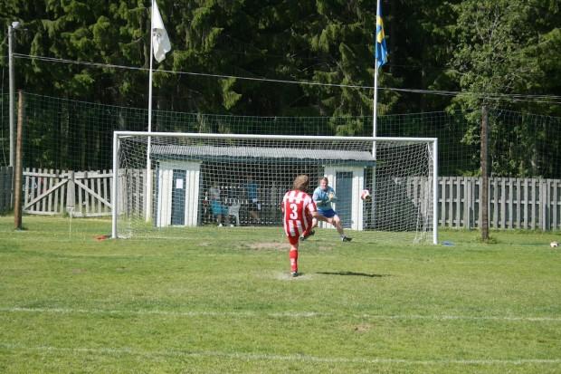 Matchen slutade 1-1 efter 60 minuters spel och gick till ett straffavgörande...