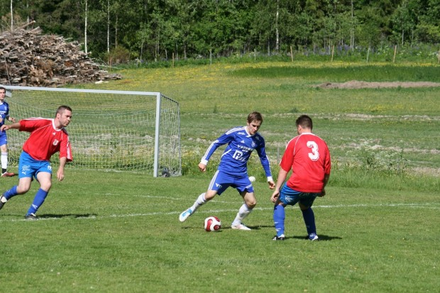 Sista matchen var mellan dagens A-lag och ett yngre veteranlag.